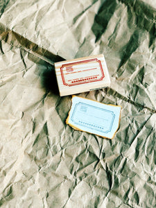 Apothecary Label Rubber Stamps Series
