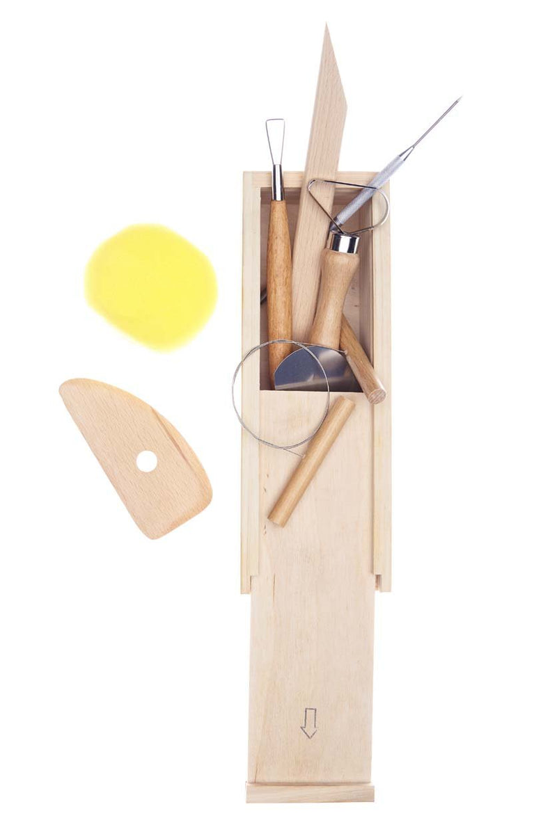 Pottery Tool Set (Wooden Box)