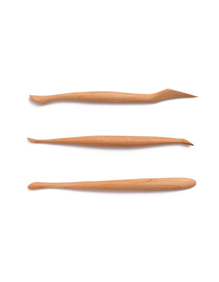 Wood Modeling Tools (3 pcs/set)