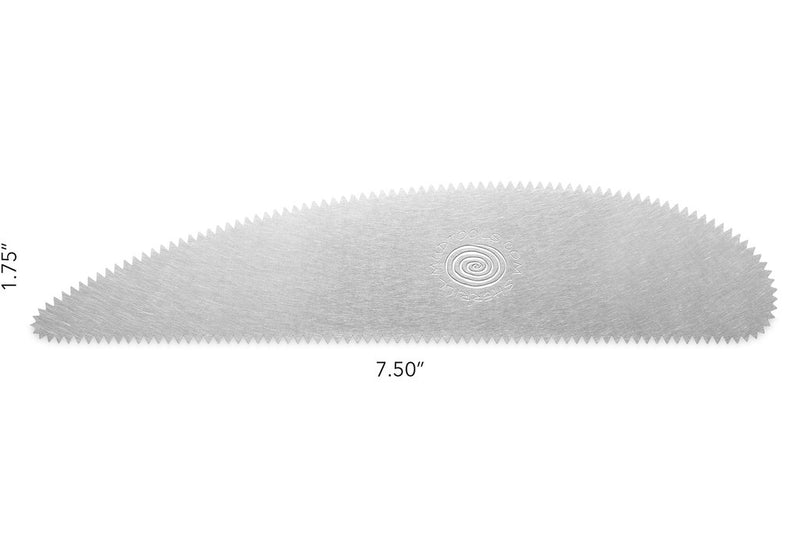 Extra Long stainless steel Scraper with 10 teeth per inch (course edge)