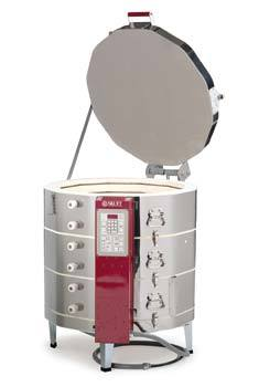 This kiln is perfect for low fire pieces. The 10 cubic foot firing chamber makes it ideal for schools, contemporary studios and production bisque companies. When coupled with an EnviroVent, a kiln controller, it gives precise repeatable firings.