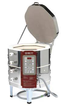 This compact kiln is suited for home studios, and powers up to Cone 10 power making it perfect for porcelain firings.