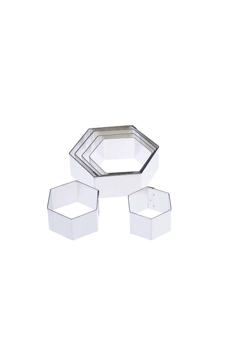 Tin Plate Pattern cutter -6pcs (Hexagon set)