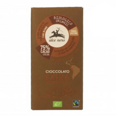 Tablete de chocolate negro (75% cacau)