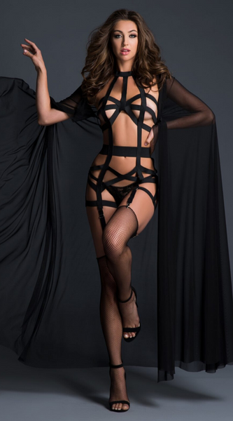 Deliciously Playful Corselette in Black