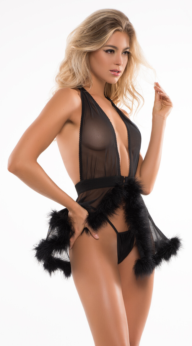 Candy Sweet Babydoll Set in Black