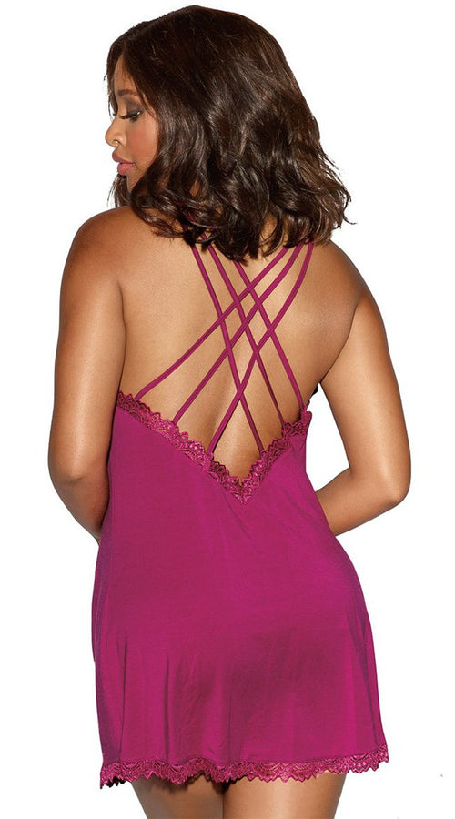 Classic Soft Chemise in Wine