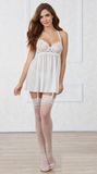 Venice Lace Babydoll Set in White