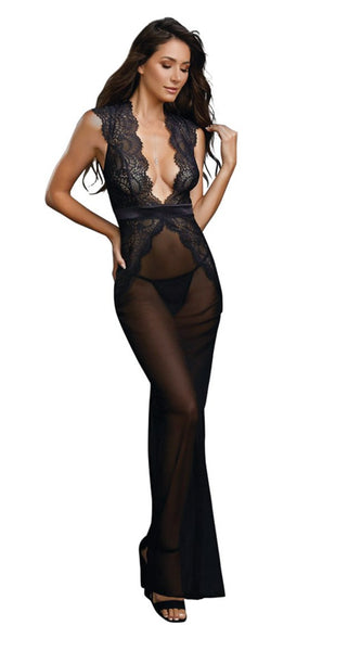 Low Back Gown in Balck