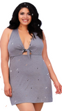 Soft Jersey Chemise in Grey