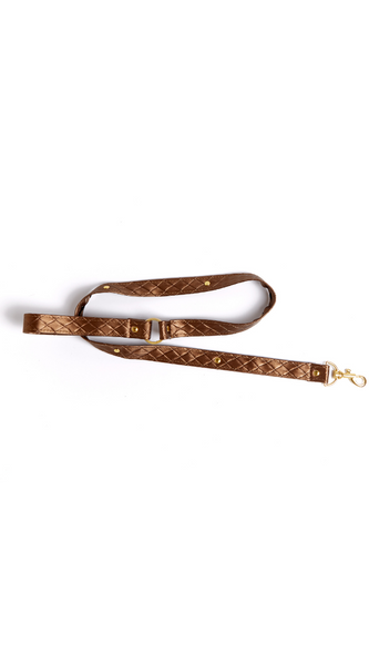 Darling Pet Collar with Leash Set in Bronze