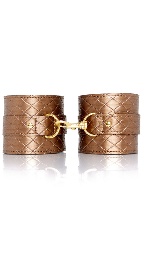 Infatuation Ankle Cuffs in Bronze