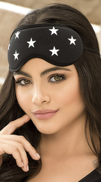 Stars Sleep Mask in Black