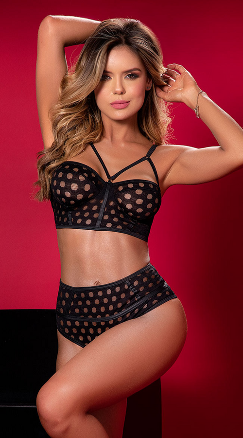 Effortlessly Chic 2PC Bra Set in Black