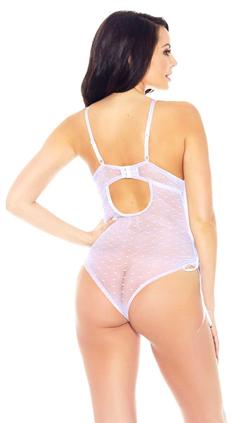 Risqué Lace Teddy in Lilac