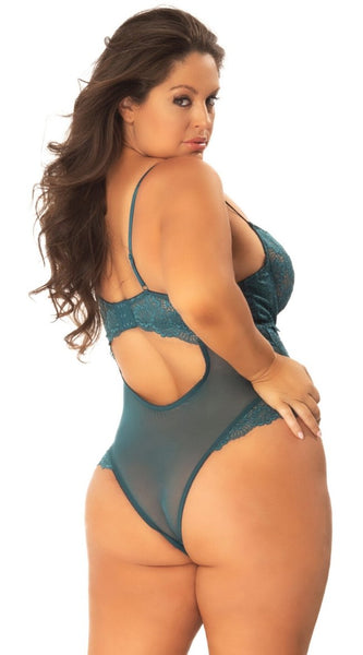 Page Me Bodysuit in Teal