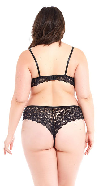 Funky Lace Cheeky Panty in Black