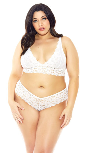 Funky Lace Cheeky Panty in White