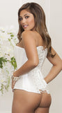 Sweetheart Satin Corset in White