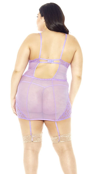 Raw Soft Cup Chemise in Lilac