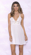Flirty Chiffon Chemise in White