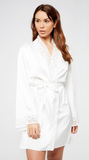 Satin Elissa Robe in White
