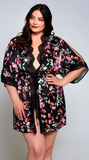 Floral Lucia Robe in Black