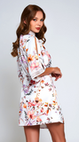 Floral Lucia Robe in White