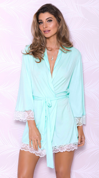 Bright Sensual Robe in Aqua