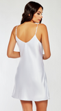 Basic Satin Chemise in White