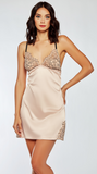 Satin Lace Cup Chemise in Blush