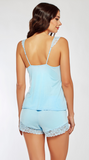 Effortless Lace Cami Set in Sky Blue