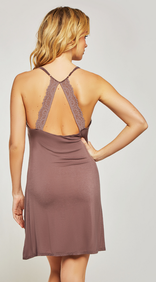 Soft Zenni Chemise in Berry