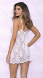 All Over Lace Babydoll in White