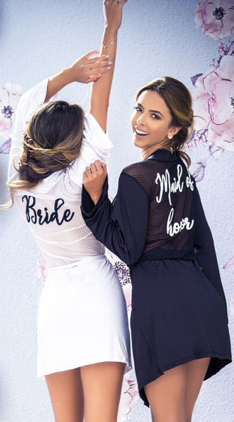Maid of Honor Robe in Black