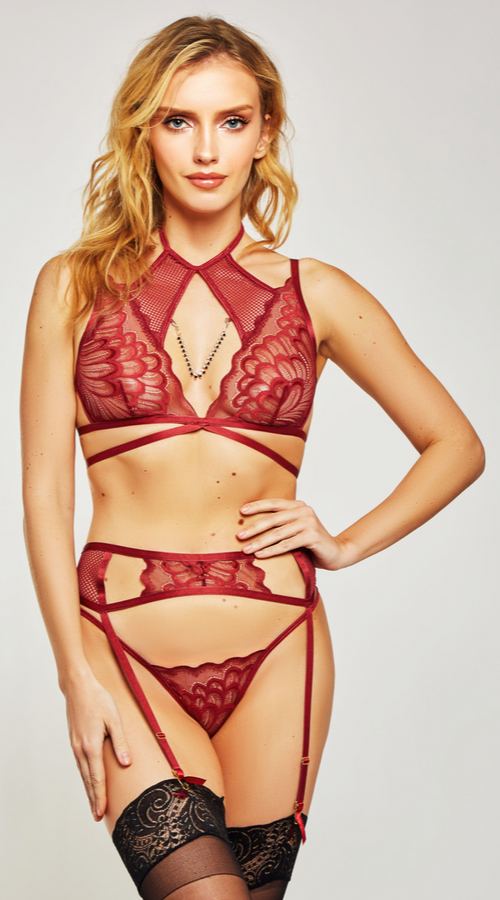 3PC Aurora Bra Set in Wine