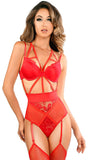 Provocative Angel Lace Teddy in Red