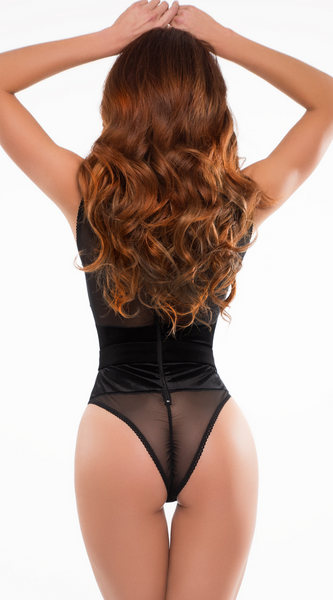Cat Eyes Bodysuit in Black