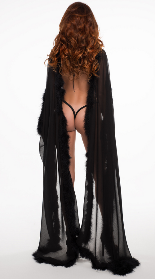 The French Kiss Cape in Black