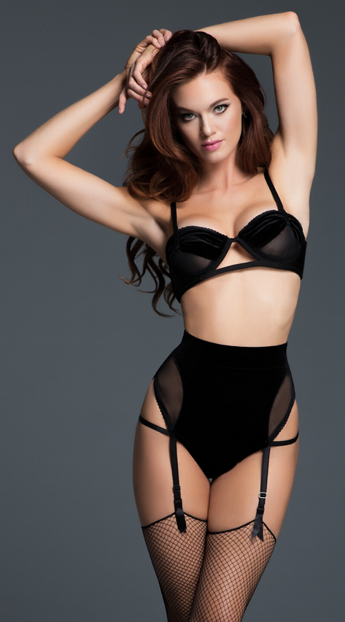 2pc Love Affair Balconette Bra Set in Black