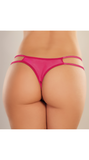 Sweet Honey Crotchless Panty in Hot Pink