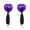 Sequin Heart Pasties with Tassels in Purple