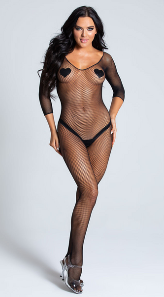 Crotchless Sheer Bodystocking in Black