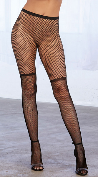 Two-Tone Fishnet Pantyhose