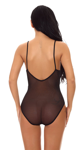 Classic Liloo Lace Bodysuit in Black