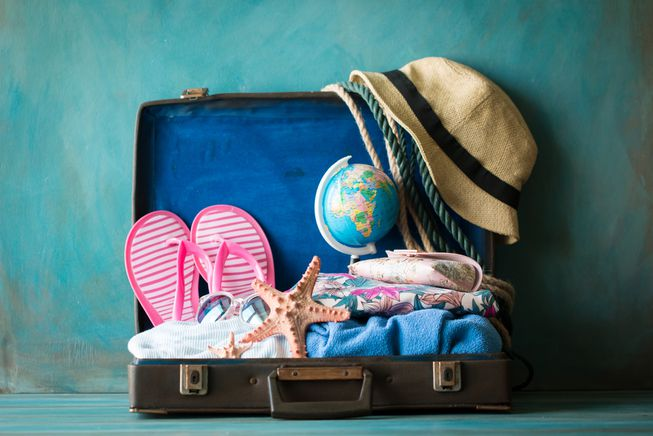 Suggested packing list for a week in the sun
