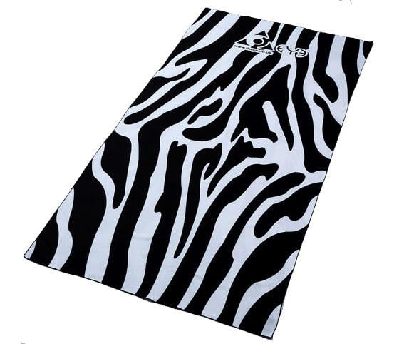 Compact Beach Towel - Zebra (Black and White)