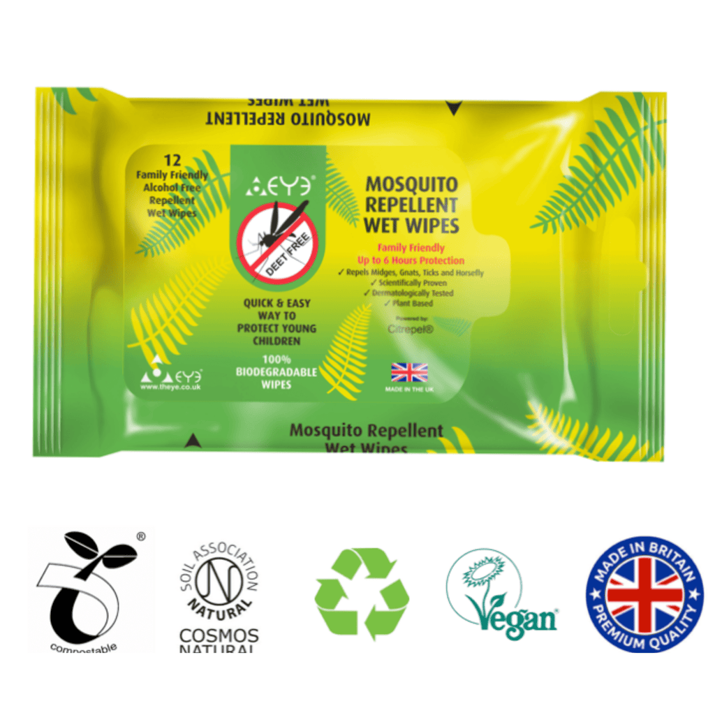 Mosquito Repellent Wet Wipes - 12 pack