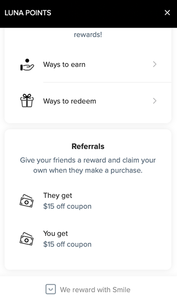 Luna Points Referral
