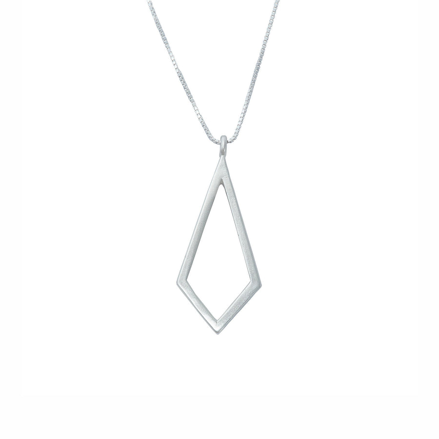 Minimalist kite necklace in sterling silver